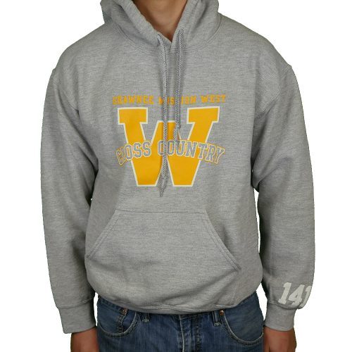 Shawnee Mission West Cross Country Grey & Gold Hoodie